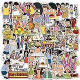 Bob's Burgers Stickers  50 PCS   Vinyl Waterproof Stickers for Laptop,Bumper,Skateboard,Water Bottles,Computer,Phone,Terror G