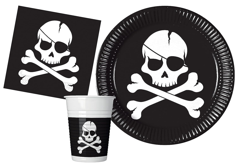 Kit Party Tavola Cupcake per 8 persone 44 pezzi: 8 piatti carta /Ø23cm, 8 piatti carta /Ø20cm, 8 bicchieri plastica 200ml, 20 tovaglioli carta 33x33cm