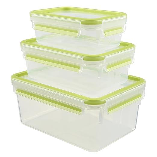 175 opinioni per Emsa, 515585, Set di contenitori per alimenti con chiusura a scatto, 3 pz. da