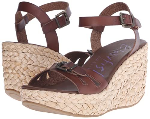 Blowfish Women's 'Drive In' Wedge Sandal (11M, Whiskey Dyecut PU/Nat Straw  Rope): Buy Online at Low Prices in India - Amazon.in