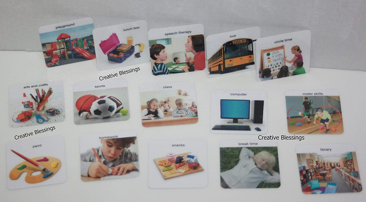 150 REAL PECS/® PICTURES FOR AUTISM SPEECH COMMUNICATION /& APRAXIA 1.5 x 1.5 ABA ADHD