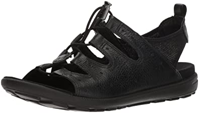 ECCO Women's Women's Jab Toggle Sandal, Black, 36 M EU (5-5.5