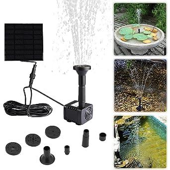 Liqoo 7V 1.2W Nouvelle pompe Brushless à Energie Solaire Fontaine de ...