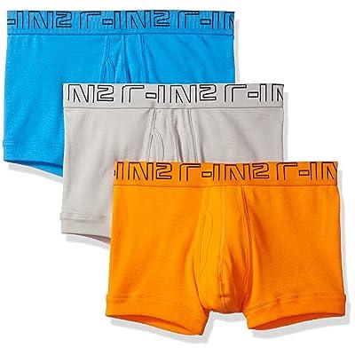 C-IN2 Men's Multipack-3 Trunk, Sunburst/Grey Stripes/Electric Blue, Medium: Clothing