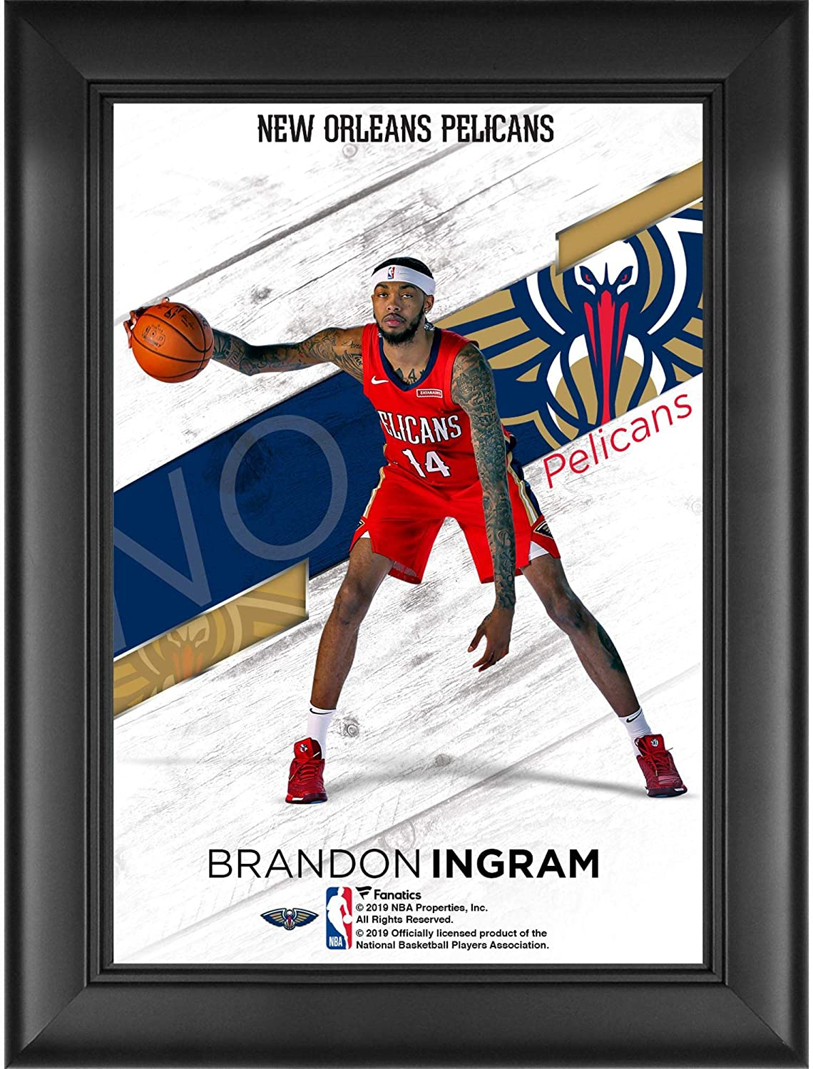 Brandon Ingram New Orleans Pelicans Framed 5 X 7 Jersey Swap Collage Nba Player Plaques And Collages