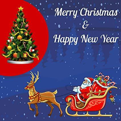 amazon com merry christmas happy new year banner heavy duty 11 oz vinyl holiday christmas tree santa decorative sign metal grommets hemmed edges perfect for indoor outdoor home decor 8 x merry christmas happy new year banner