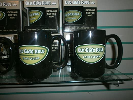 "4 OLD GUYS RULE /"" LIVING LEGEND /"" LARGE CERAMIC MUG WITH HANDLE GIFT BOXED"