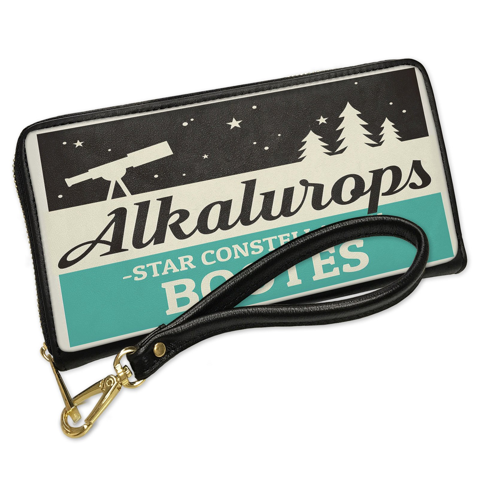 Wallet Clutch Star Constellation Name Bootes - Alkalurops with Removable Wristlet Strap Neonblond