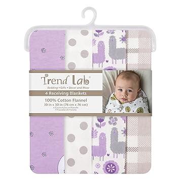 Amazon.com: Trend Lab Llamas y unicornios franela mantas, 4 ...