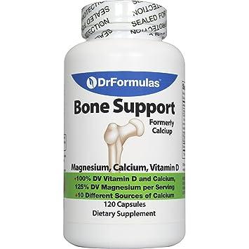 DrFormulas Bone Support 100% DV 1000mg Calcium Supplement Carbonate, Citrate, Gluconate, (