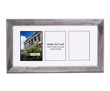 Amazon.com: CreativePF- 3 Opening Glass Face Driftwood Picture Frame ...