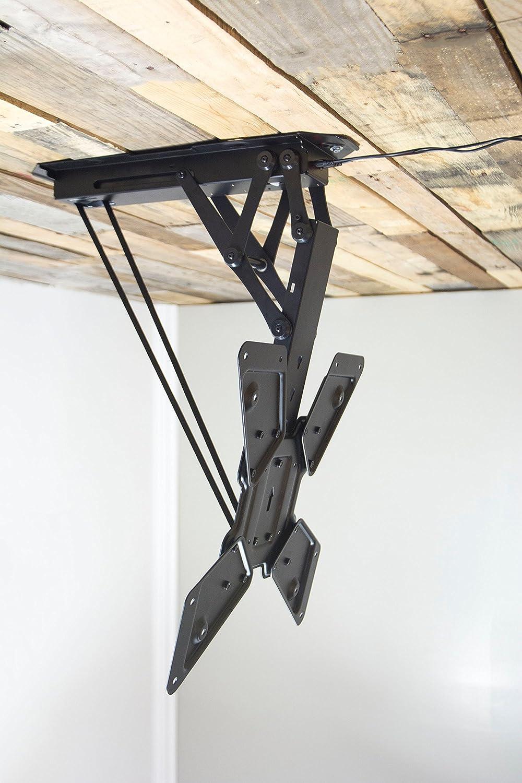 vp vogels alternative silver ce black ceiling tv medium products wall brackets mount mounts image