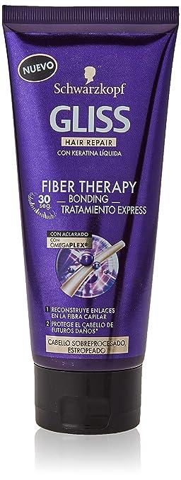 Gliss Tratamiento Express Fiber Therapy para cabello sobreprocesado (plancha y/o tinte) - 6 ud de 200ml - Schwarzkopf