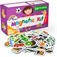 Foam Magnets for Toddlers - Refrigerator Magnets for Kids - Baby Magnets for Fridge and Whiteboard - Zoo, Farm and Animals Ed