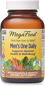 MegaFood, Men's One Daily, Daily Multivitamin and Mineral Dietary Supplement with Vitamins B, D and Zinc, Non-GMO, Vegetarian, 30 Tablets (30 Servings)