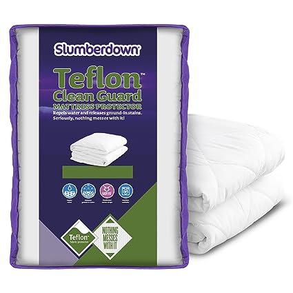 SLUMBERDOWN limpia Guardia Protector de colchón – King, color blanco