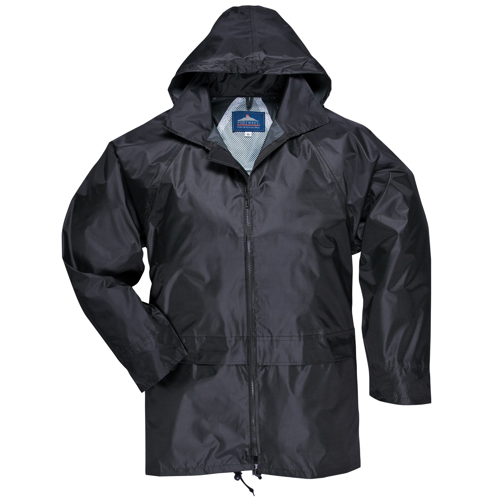 Portwest Mens Classic Rain Jacket (S440) (L) (Black) by Portwest