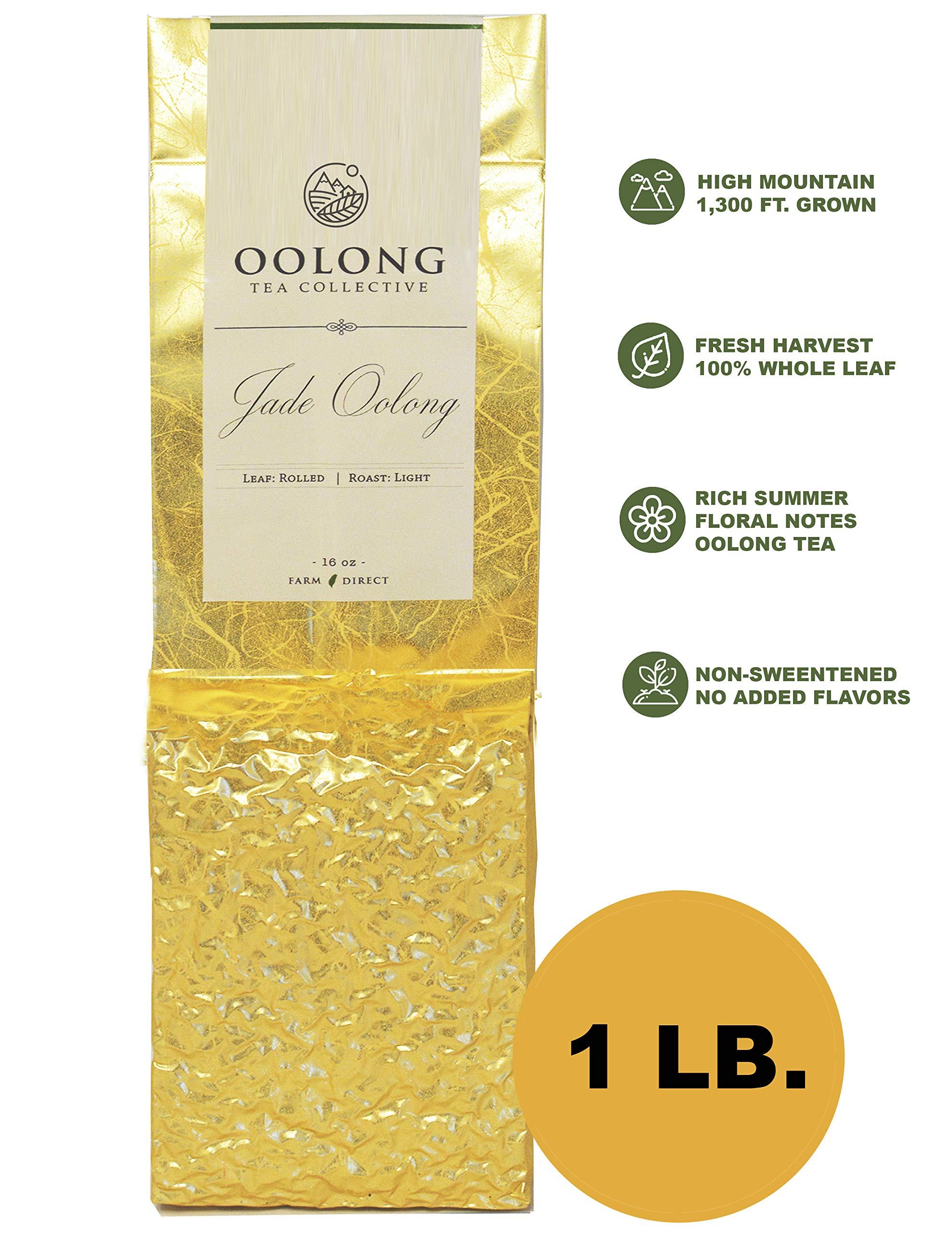 Jade Oolong Tea - 2019 Fresh Harvest - Natural Loose Leaf Tea - No Additives - 100% Taiwan Farm Direct by Oolong Tea Collective (16oz) by Oolong Tea Collective