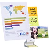 NoteTower Desktop Pro White - Sticky Note Organizer & Dispenser + Document Holder - Holds and Displays Copy Paper, Documents, Photos, Sticky Notes and Business Cards - Bonus 50 Sheets 3x3 Sticky Notes