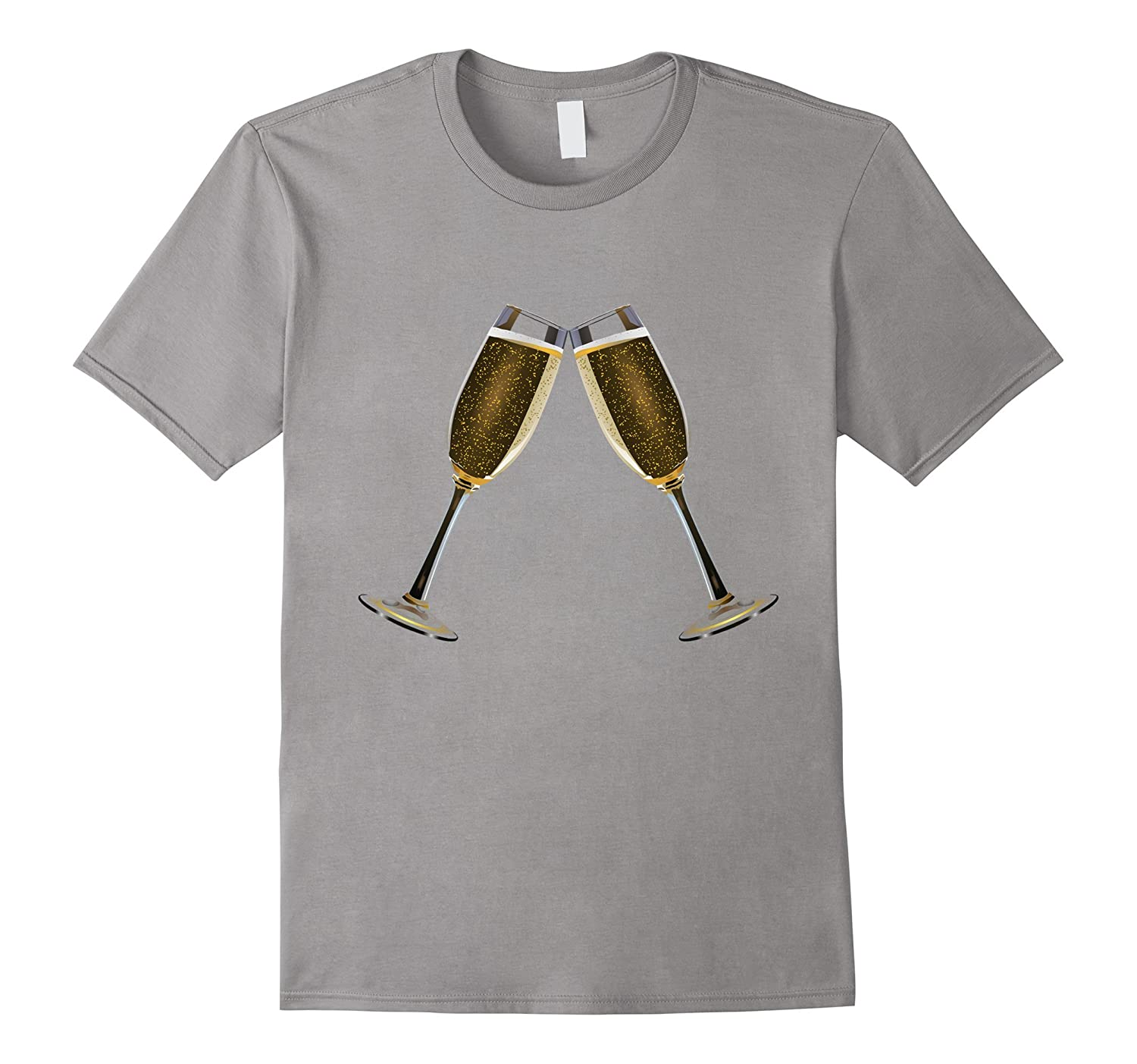 Cheers Celebrate t-shirt Clinking Glasses of Champagne-T-Shirt
