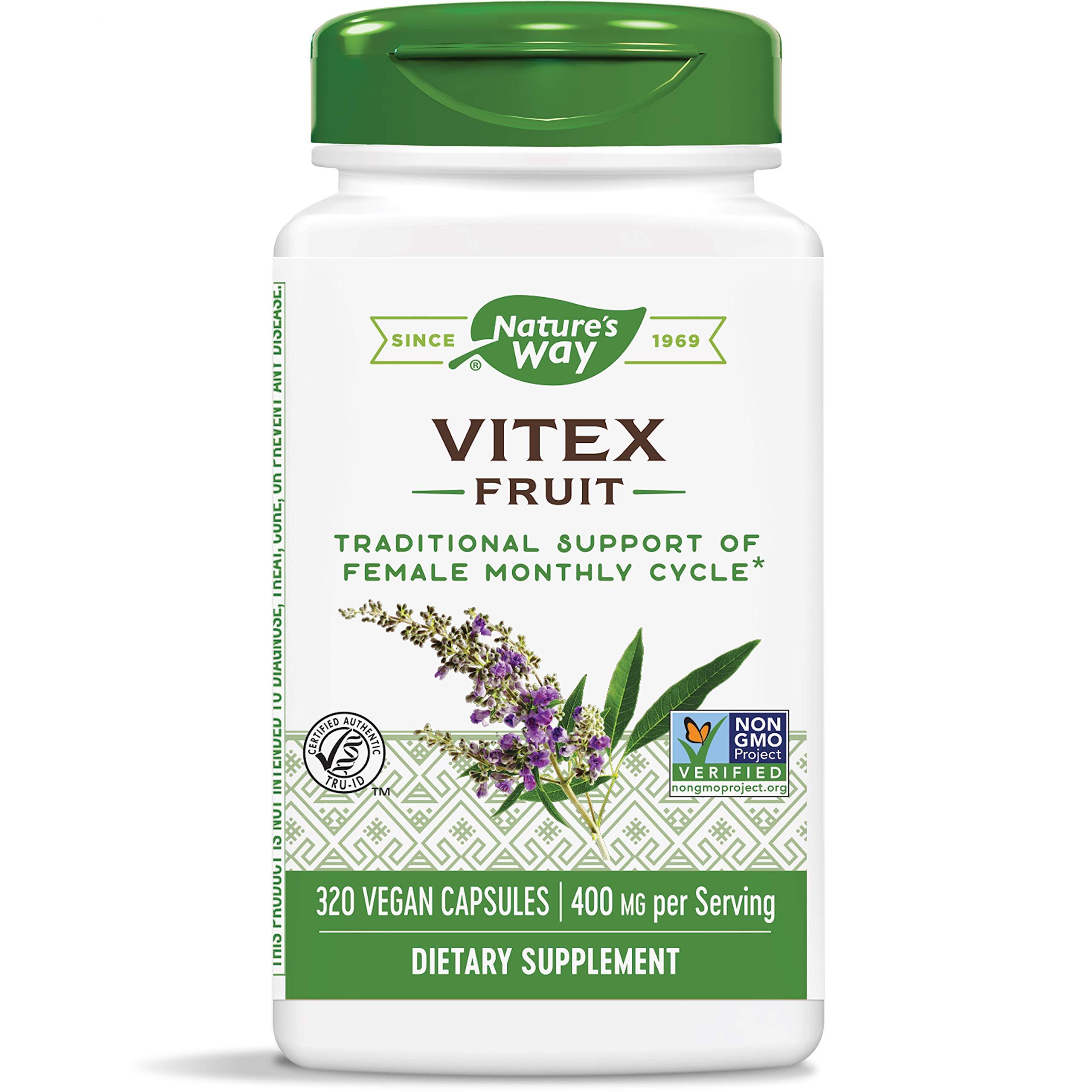Nature's Way - Vitex Fruit 400 mg. - 320 Vegetarian Capsules
