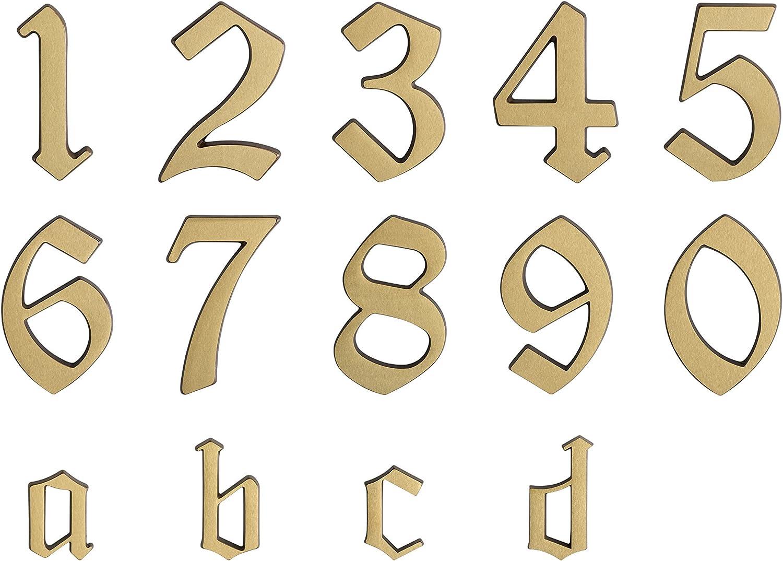 Individuelle Kombinationsm/öglichkeiten // Beschriftung // Kennzeichnung // Buchstabe // Haust/ür // Hauswand // Gartentor // 422017 55 mm Gute Lesbarkeit Messing Metafranc Hausnummer a 3D Design