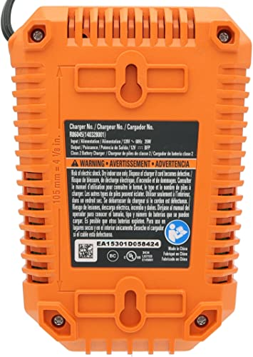 60Hz Lithium Ion Battery Charger Ridgid R86045 Genuine OEM 12 Volt 35W Renewed Battery Not Included, Charger Only
