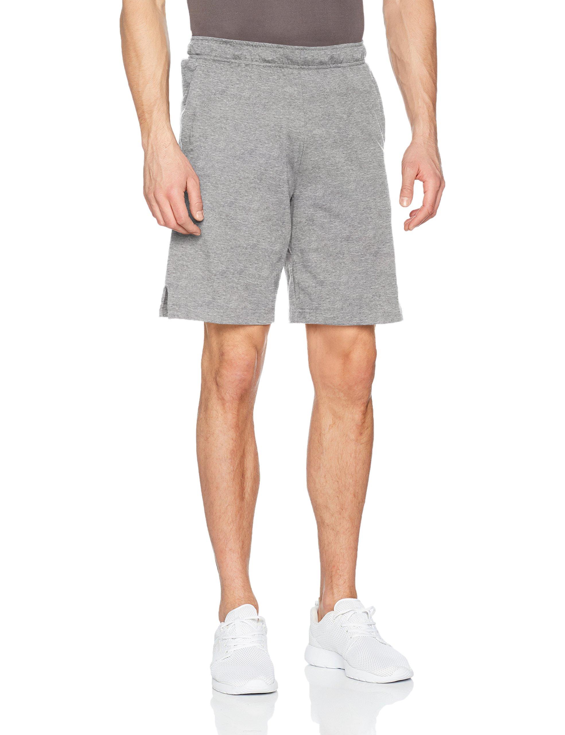 Nike Mens Dri-Fit Cotton Training Shorts Carbon Heather/Black Size Large by Nike