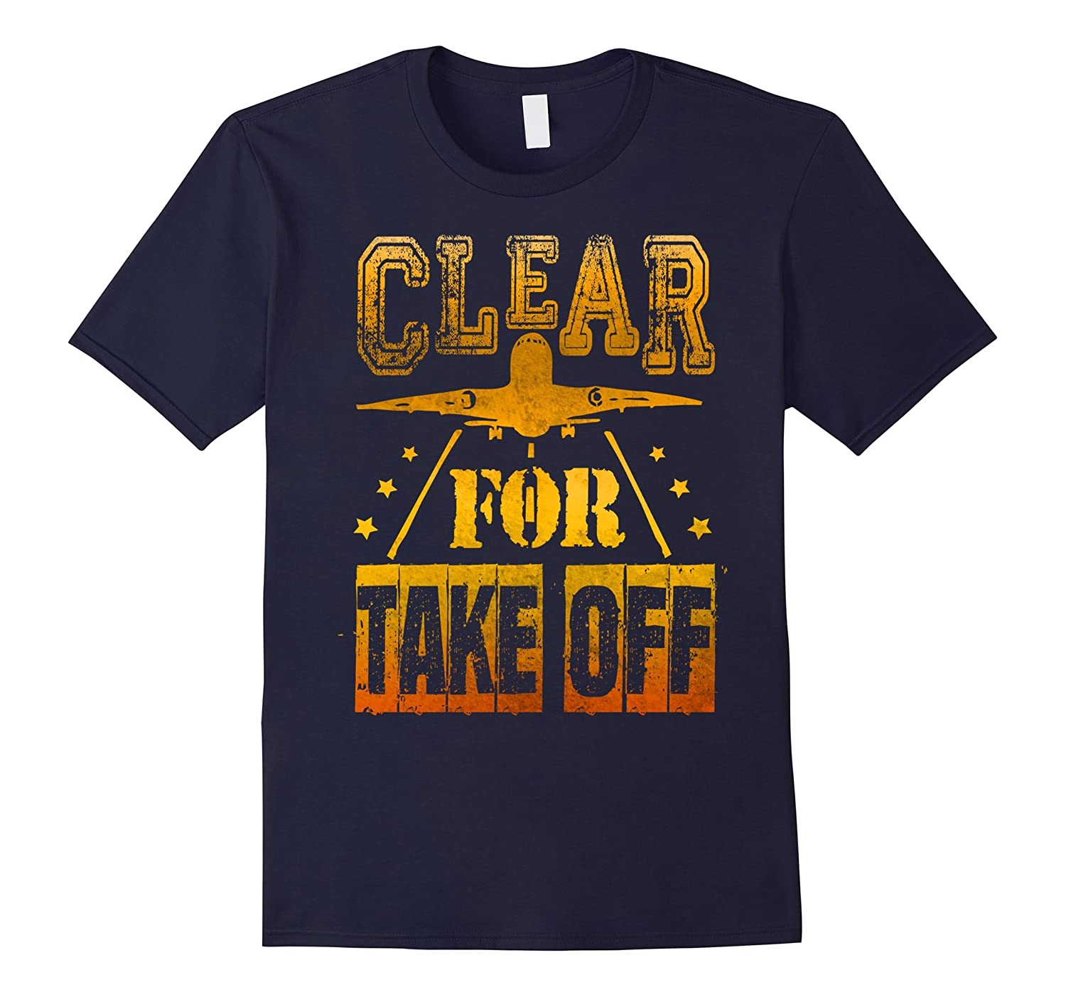 Clear For Take Off AVIATION T Shirt Airplane Design Pilot-Vaci