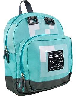 44326e0ec7 Minecraft Creeper Backpack Rucksack School Bag Large   Mini (Silver