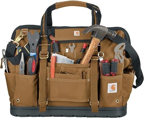 Carhartt Legacy Tool Bag 18-Inch w Molded Base, Carhartt Brown