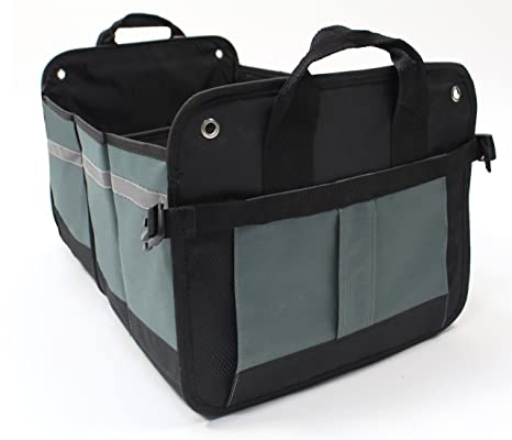 Cargo Box For Suv >> Lk Auto Car Trunk Organizer Storage Cargo Box Collapsible With Multiple Compartments For Suv Van Or Truck Bed Accessory