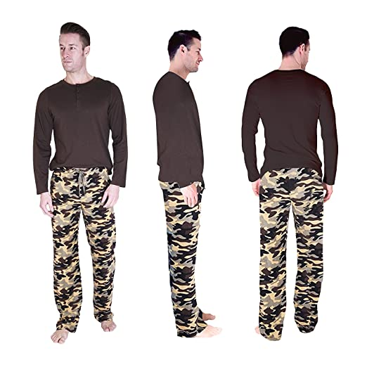 2f7bc76af7 Cherokee Men s 2 Piece Pajama Set at Amazon Men s Clothing store