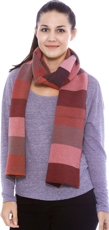 Warm Winter Long Acrylic Bold Striped Scarf