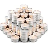 MontoPack Unscented Tea Lights Candles in Bulk | 100 White, Smokeless, Dripless & Long Lasting Paraffin Tea Candles…