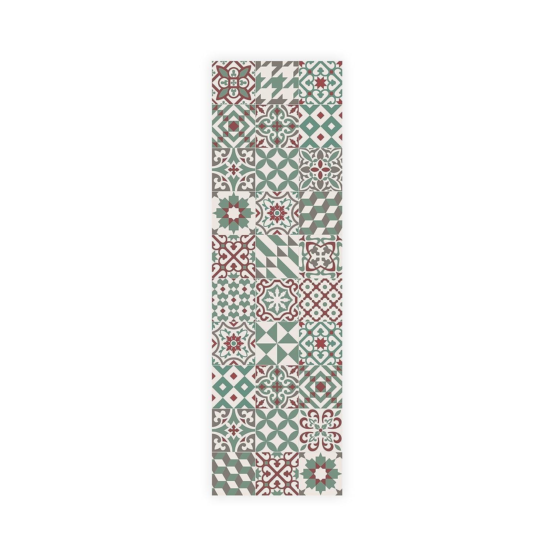ALFOMBRA PARA MASCOTAS, impermeable, resistente y aislante. Muy agradable. Diseño efecto suelo de baldosas antiguas. Se limpia fácilmente con una fregona. Made in Barcelona. Eclectic Grey 60x80cm. MAMUT Big Design