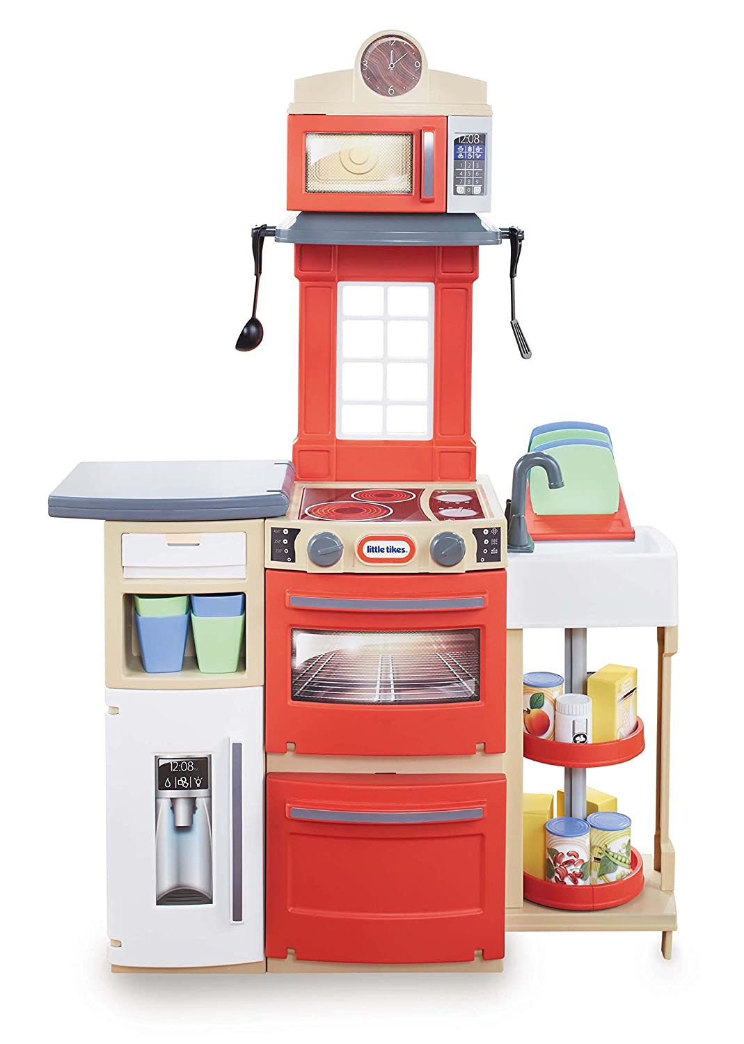 Amazon.com: Little Tikes Cook U0027n Store Kitchen Playset   Red: Toys U0026 Games