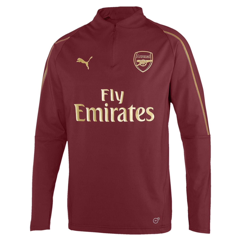 Puma Herren Arsenal Fc 1 4 Zip with EPL Sponsor Logo T-Shirt