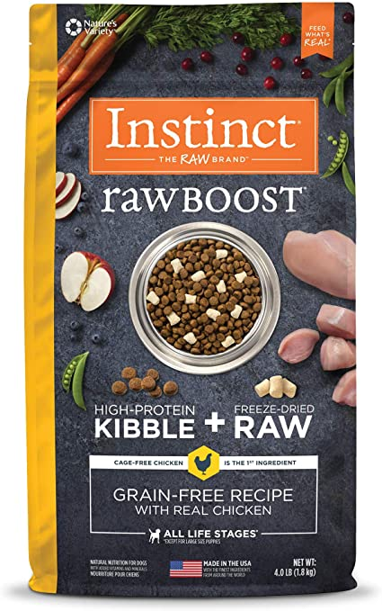 Instinct Raw Boost Grain Free Dry Dog Food   Amazon