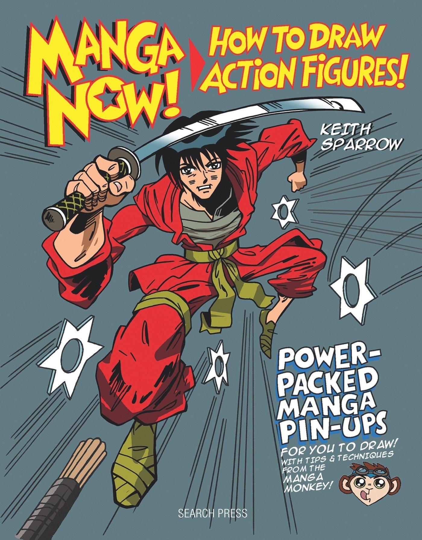 Amazon com manga now how to draw action figures 0693508009318 keith sparrow books