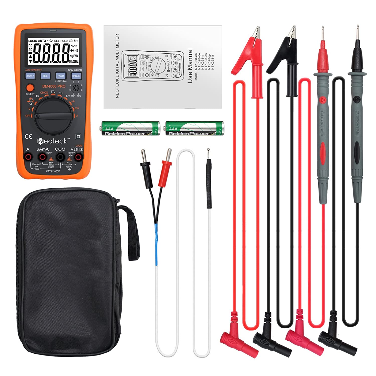 Amazon neoteck auto manual ranging multimeters 4000 counts amazon neoteck auto manual ranging multimeters 4000 counts digital multimeter acdc volt current resistance multitester with capacitance and biocorpaavc