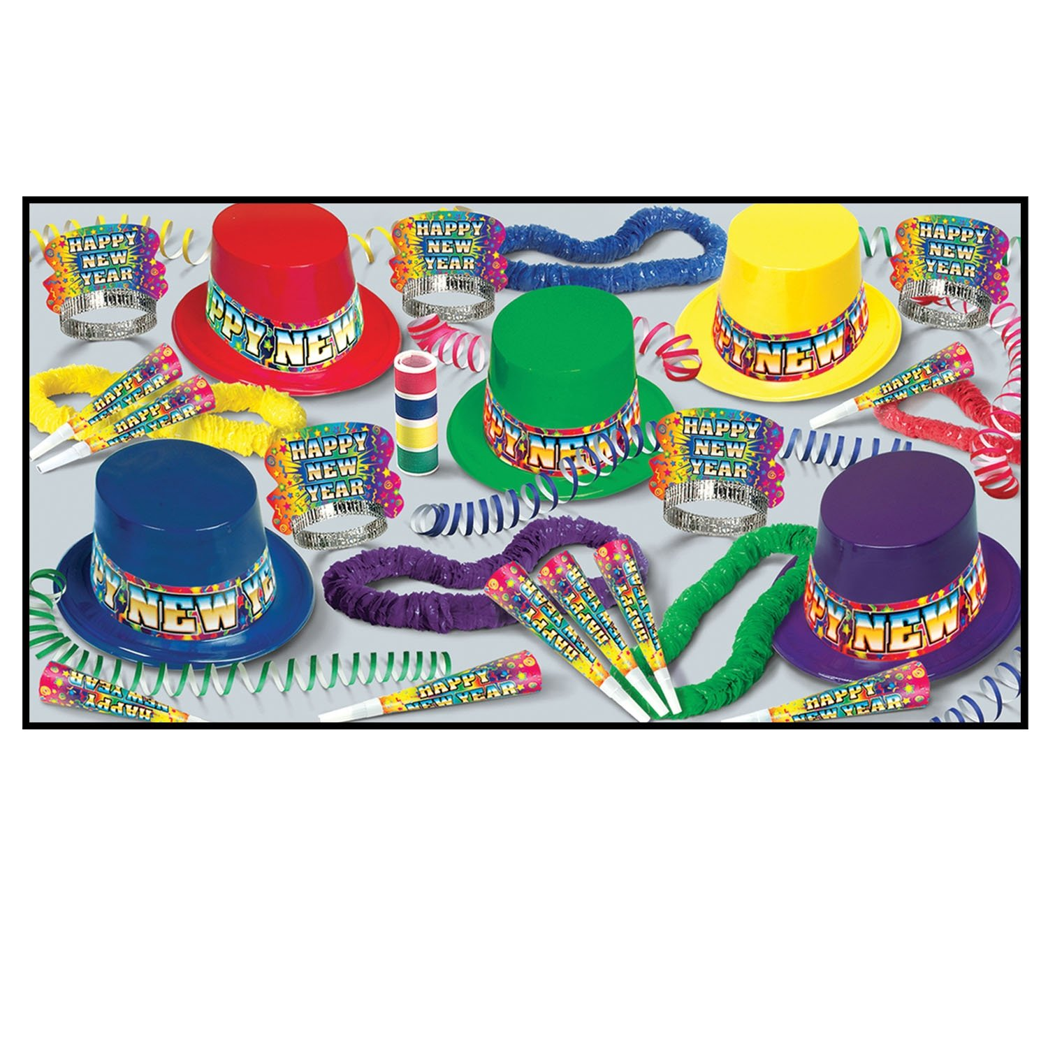 Beistle 88010 – 50 Rainbow Blast party Favors, 1 Assortment per Package