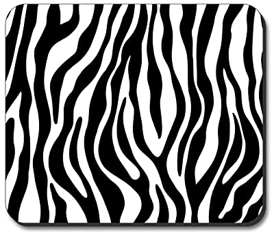 Zebra Print - Black & White Mouse Pad