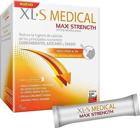 XL-S Medical Max Strength - Bloqueador de la absorción de Carbohidratos, Azúcares y Grasas - Tratamiento para Adelgazar - Reduce la ingesta de ...