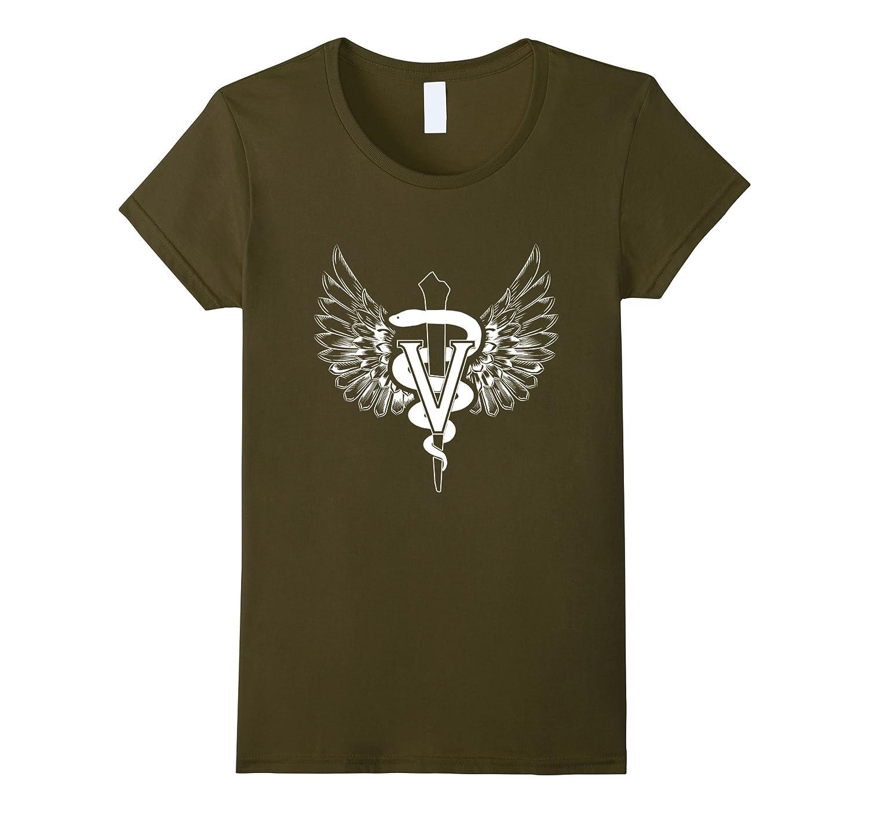 Tech Veterinarian Symbol T Shirt Olive-Teesml