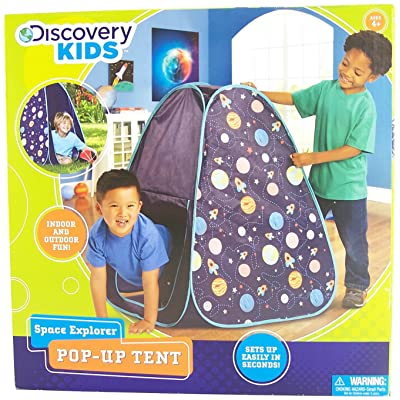 Discovery Kids space explorer pop-up tent: Toys & Games