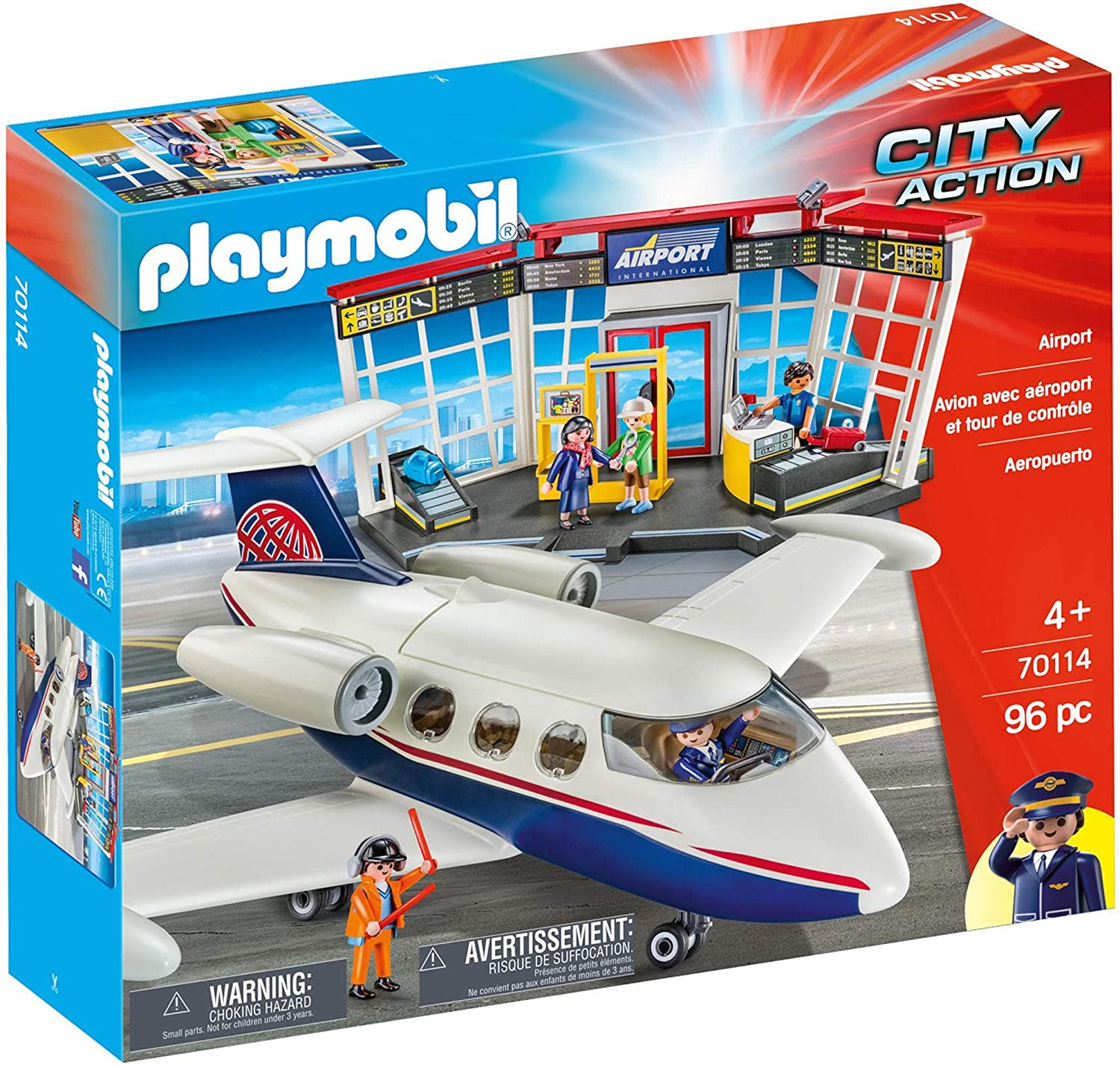 Playmobil 70114 Airport 96PC City Action Fast Delivery ...