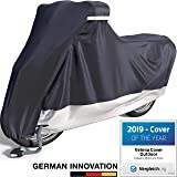 Velmia Motorcycle Cover Waterproof Outdoor & Indoor [Large] Heavy Duty Premium Bike Cover, Moped Cover for Harley Davidson - Scooter Cover Heat-Resistant, Scratch-Free & Breathable for Ideal Storage