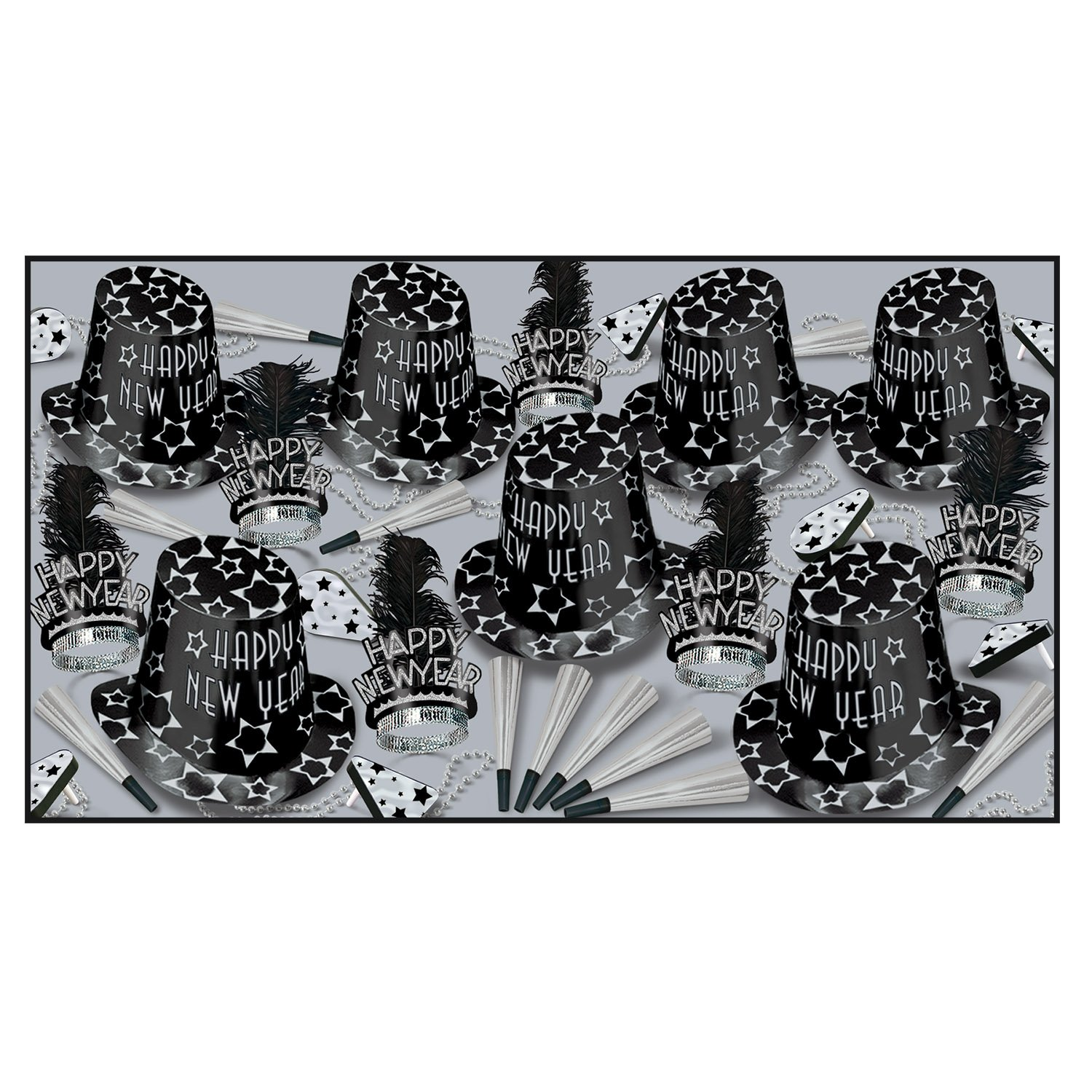 1 count New Year Diamond Asst for 50 Party Accessory