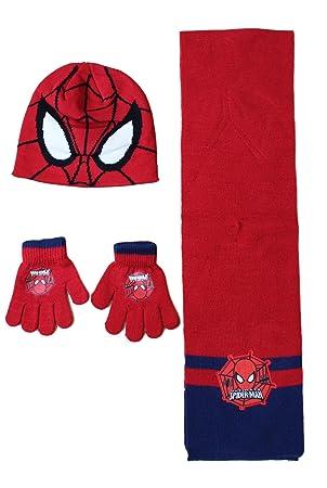 PSG Spiderman Bonnet avec Gant ET Echarpe Ensemble Spider-Man Marvel ... fd716de1b85